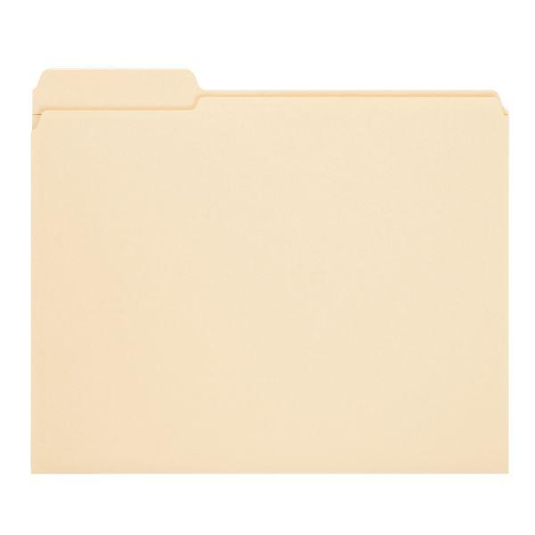 Smead Manila Top-Tab File Folders with SafeSHIELD Fasteners