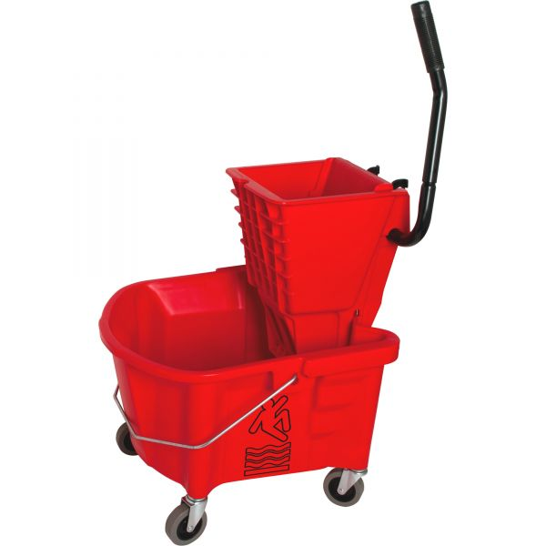 Genuine Joe Mop Bucket with Wringer Combo