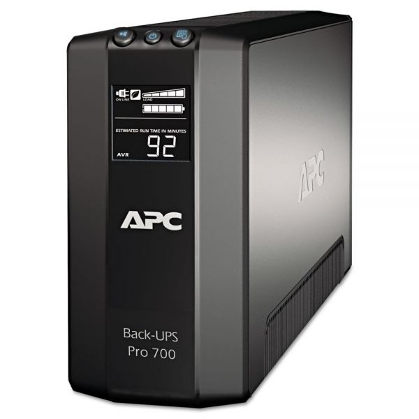 APC BR700G Back-UPS Pro 700 Battery Backup System, 6 Outlets, 700 VA, 355 J