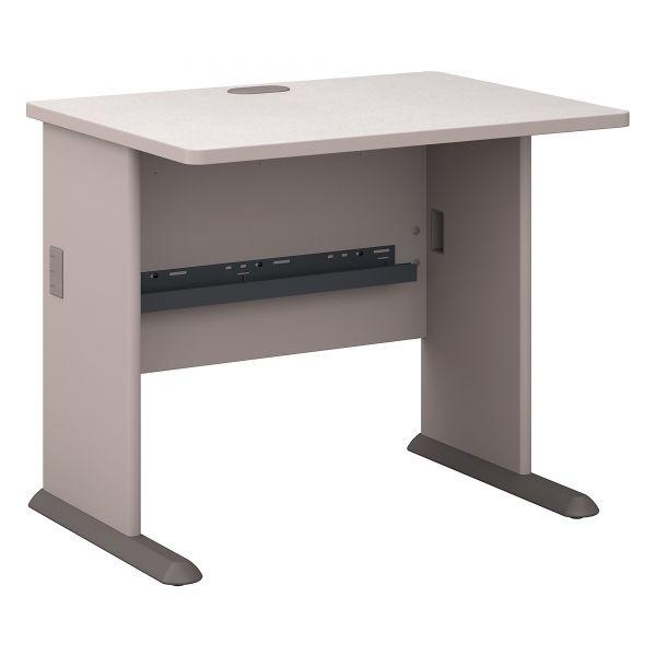 Series A Workstation Desk, White Nebula/Pewter, 36wx26-7/8dx29-7/8h by Bush Furniture