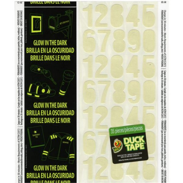"Glow-In-The-Dark Duck Tape Sheet Single 4.25""X10"""