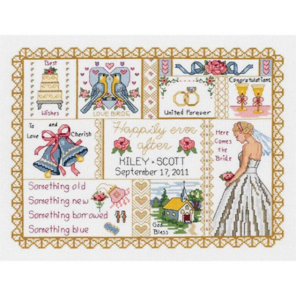 Wedding Collage Counted Cross Stitch Kit