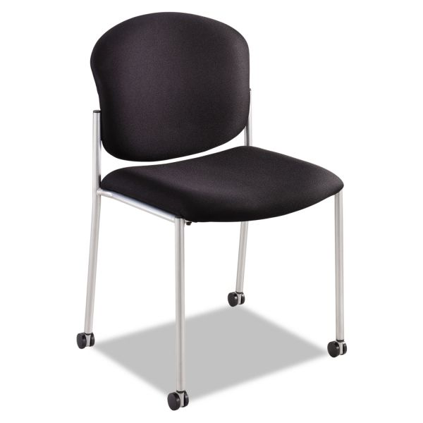 Safco Diaz Guest Chair, Black Fabric