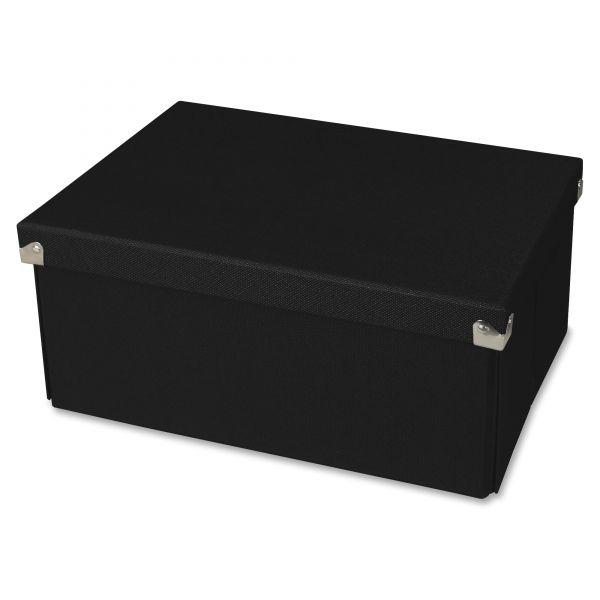 Samsill Pop n' Store Decorative Box, 9.5 x 12.75 x 3.13, Black