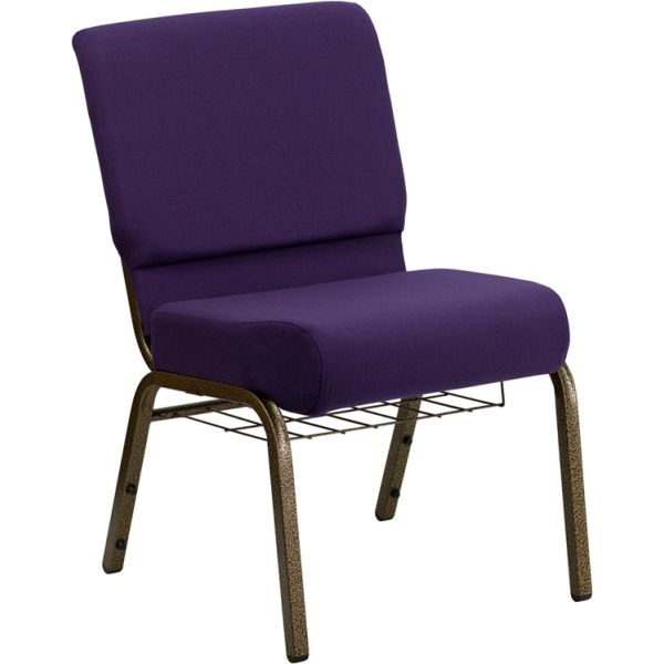 Flash Furniture Purple Fabric Big & Tall Church Chair