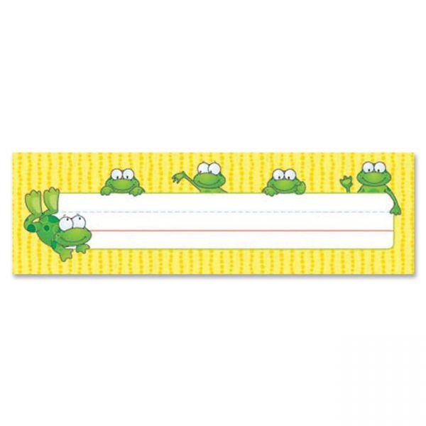 Carson-Dellosa Frogs Desk Name Plates