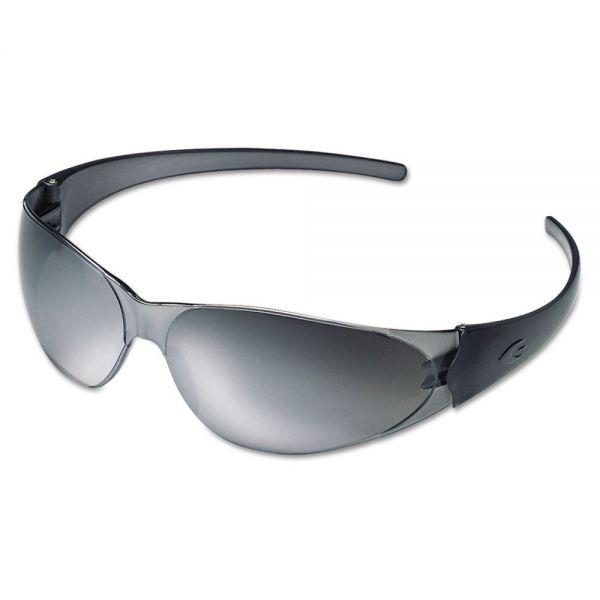 MCR Safety Checkmate Safety Glasses, Silver-Mirrored Lens