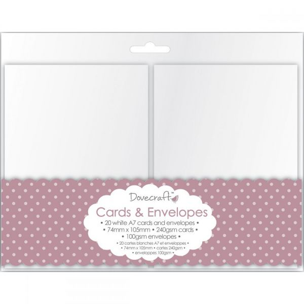 "Dovecraft Mini Cards W/Envelopes 2.9""X4.13"" 20/Pkg"