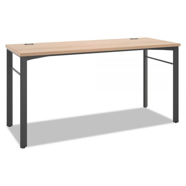 HON Manage Series Desk Table, 60w x 23 1/2d x 29 1/2h, Wheat
