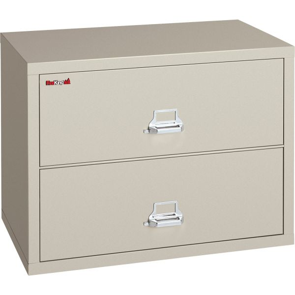 FireKing Two-Drawer Lateral File, 37 1/2w x 22 1/8d, UL Listed 350°, Ltr/Legal, Parchment