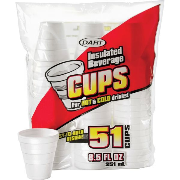 Dart Drink 8.5 oz Foam Cups