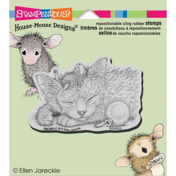 "Stampendous House Mouse Cling Rubber Stamp 4.5""X4.75"" Sheet"