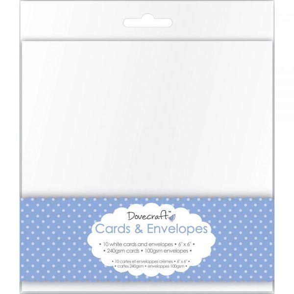 "Dovecraft Cards W/Envelopes 6""X6"" 10/Pkg"