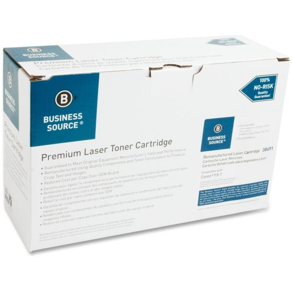 Business Source Remanufactured Canon FX-7 Black Toner Cartridge