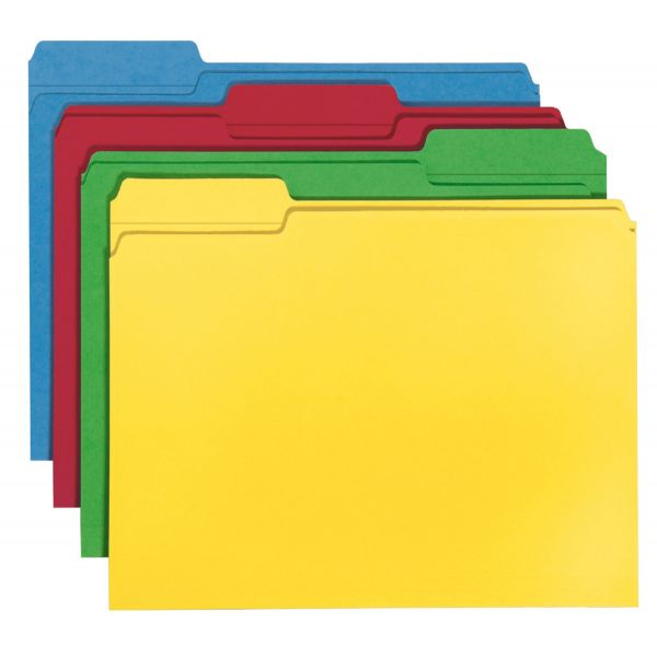 Smead 100% Recycled Colored File Folders