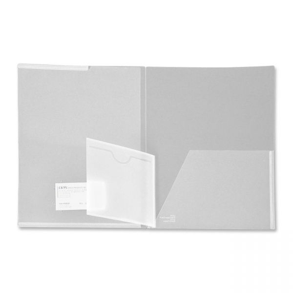 Lion Front Cover View Pocket Poly Folders