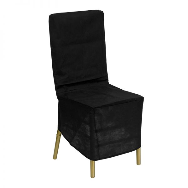 Flash Furniture Black Fabric Chiavari Chair Storage Cover