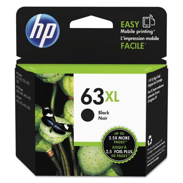HP 63XL, (F6U64AN) High Yield Black Original Ink Cartridge