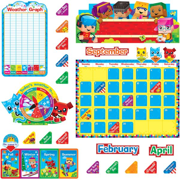 Trend BlockStars Calendar Bulletin Board Set