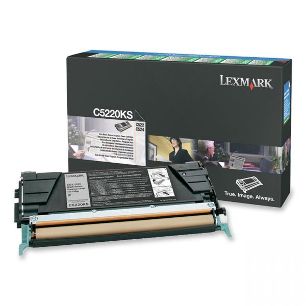 Lexmark C5220KS Black Return Program Toner Cartridge