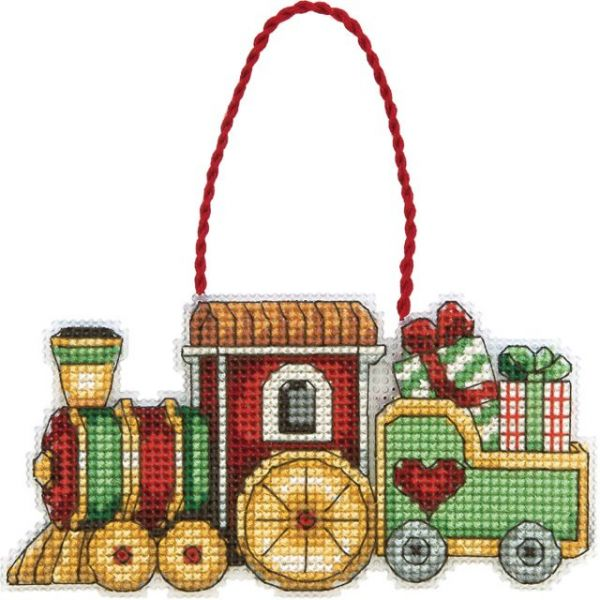 Susan Winget Train Ornament Counted Cross Stitch Kit