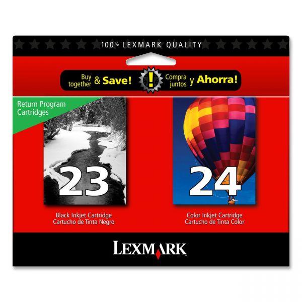 Lexmark #23 Black/#24 Color Combo Pack Return Program Ink Cartridges