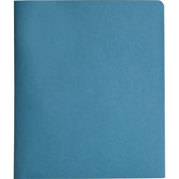 Smead Heavyweight Blue Two Pocket Folders with Tang Strip Style Fasteners
