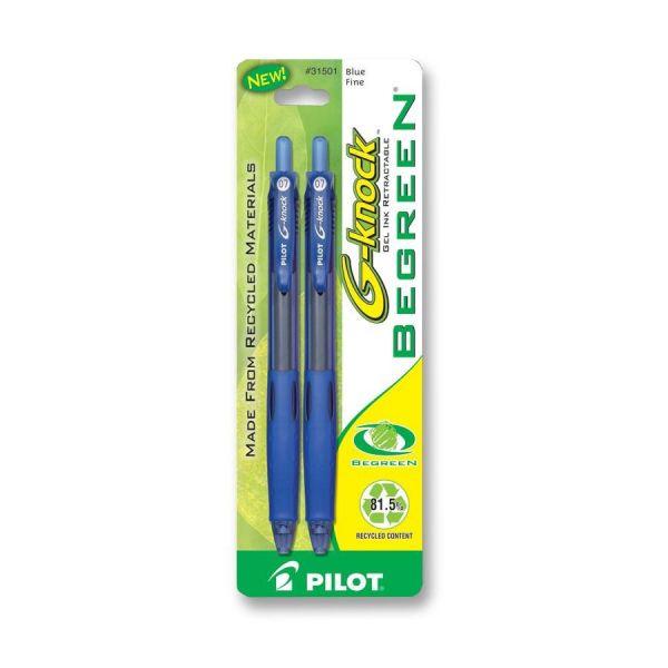 Pilot BeGreen G-Knock Gel Ink Pens