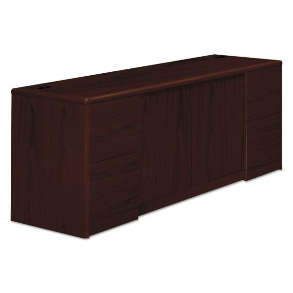 HON 10700 Series Credenza with Doors & File Pedestals