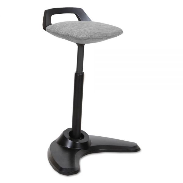 Alera AdaptivErgo Sit to Stand Perch Stool, Gray with Black Base