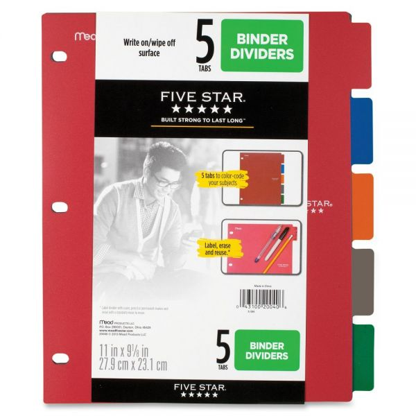 Five Star Multicolor Index Dividers
