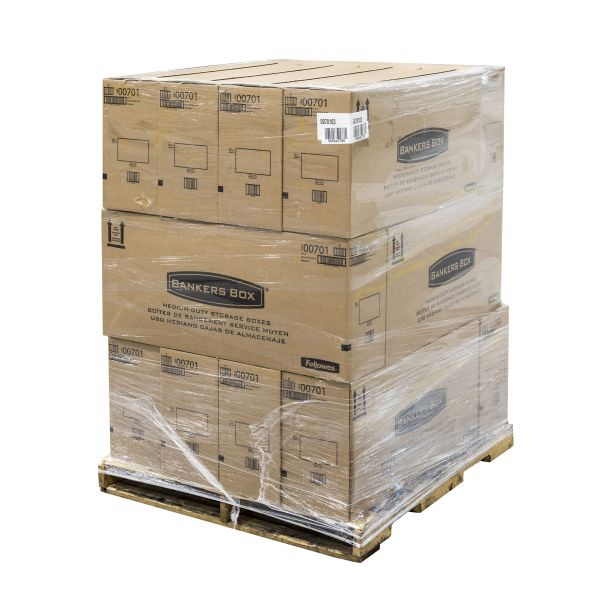 Bankers Box Stor/File Medium Duty Storage Boxes with Lift-Off Lids - 180 Boxes/Pallet