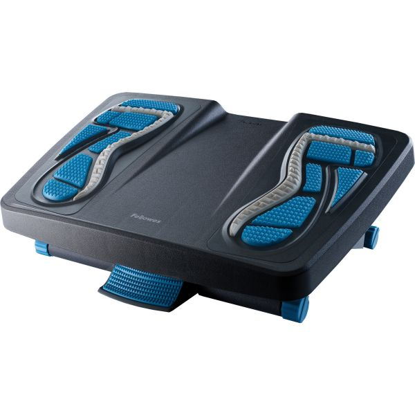 Fellowes Energizer Foot Support, 17 7/8w x 13 1/4d x 6 1/2h, Charcoal/Blue/Gray