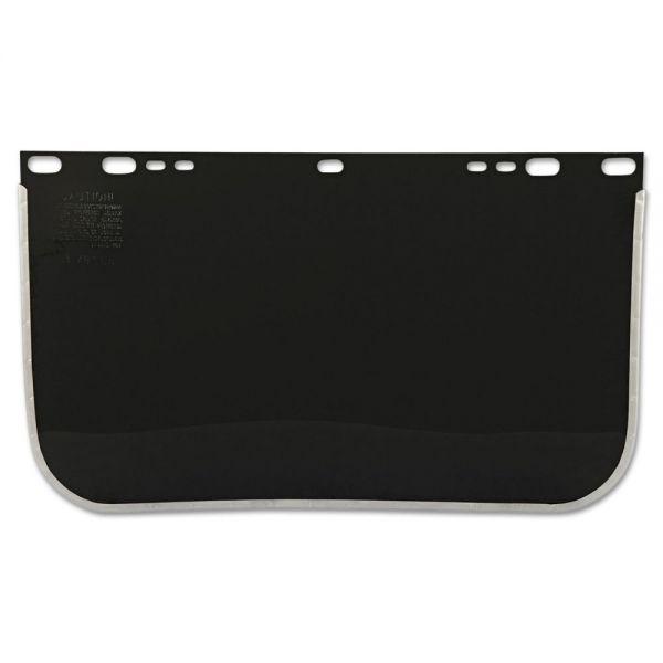 "Anchor Brand Face Shield Visor, 15 1/2"" x 9"", Shade 5, Bound, Plastic/Aluminum"
