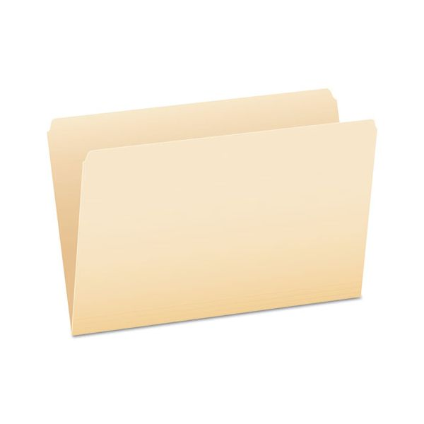 Pendaflex File Folders, Straight Cut, Top Tab, Legal, Manila, 100/Box