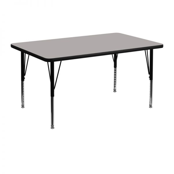 Flash Furniture Height Adjustable Rectangular Activity Table