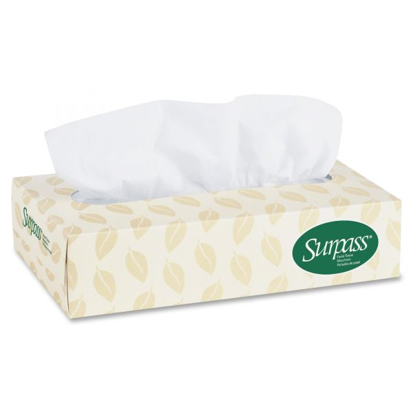 Surpass 100% Recycled 2-Ply Facial Tissues