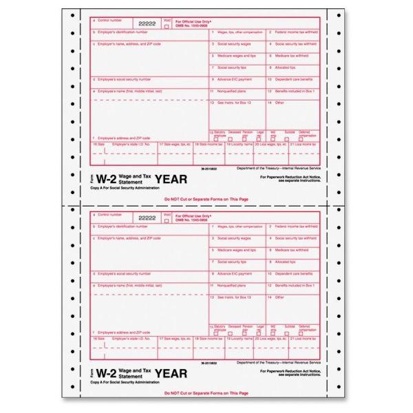 TOPS Standard W-2 Tax Forms