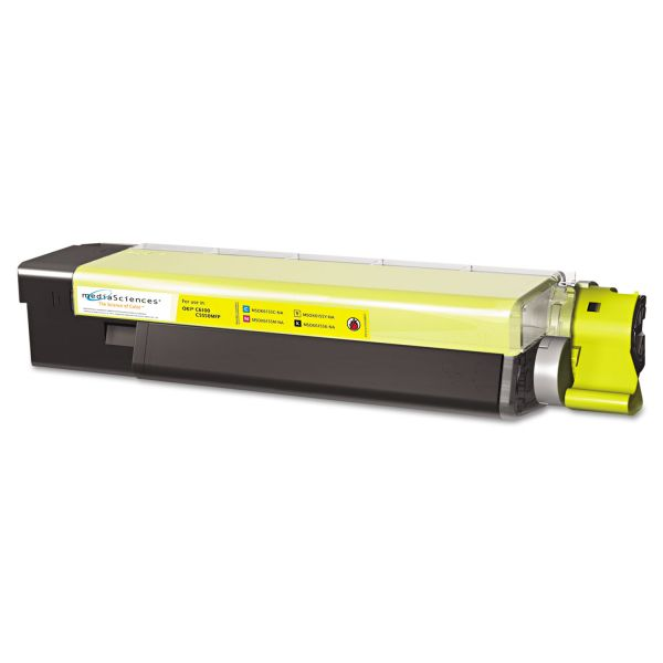 Media Sciences Remanufactured Oki 43865717 Yellow Toner Cartridge