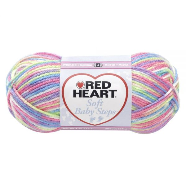 Red Heart Soft Baby Steps Yarn - Giggle