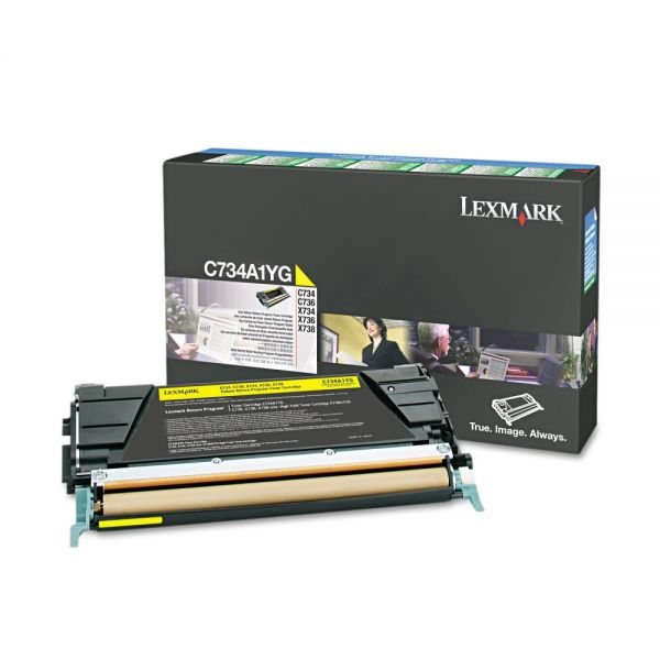 Lexmark C734A1YG Yellow Return Program Toner Cartridge
