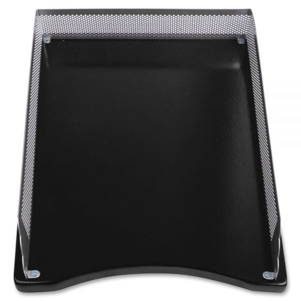 Lorell Metal/Wood 2-color Front Load Tray