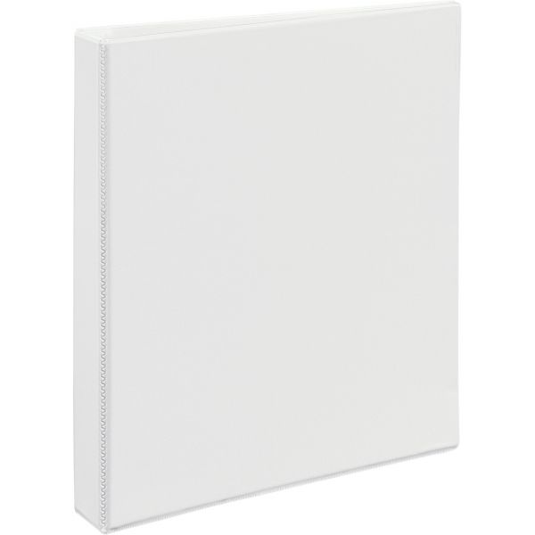 """Avery Heavy-Duty 3-Ring View Binder w/Locking 1-Touch EZD Rings, 1"""" Capacity, White"""