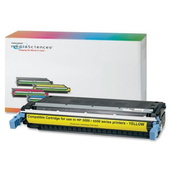 Media Sciences Remanufactured HP 645A Yellow Toner Cartridge