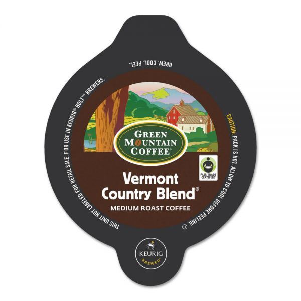 Green Mountain Coffee Roasters Vermont Country Blend Bolt Pods