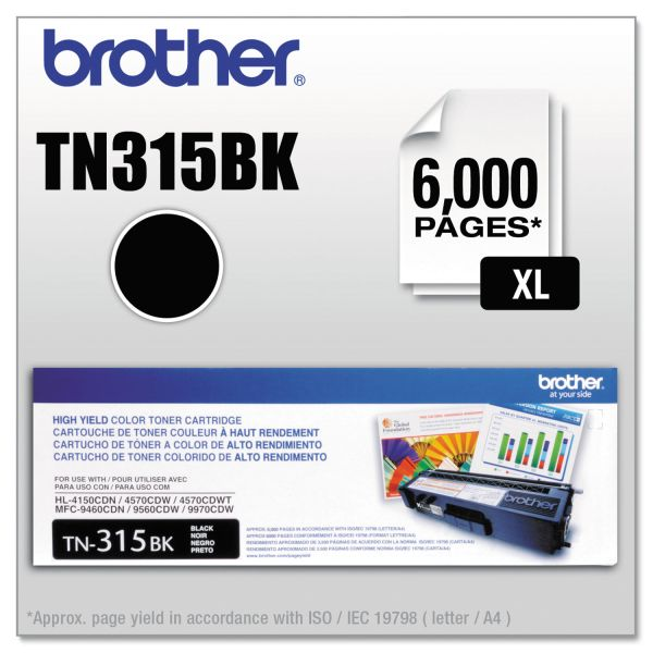 Brother TN315BK High Yield Toner Cartridge