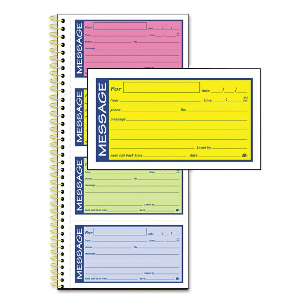 Adams 2-Part Carbonless Phone Message Books