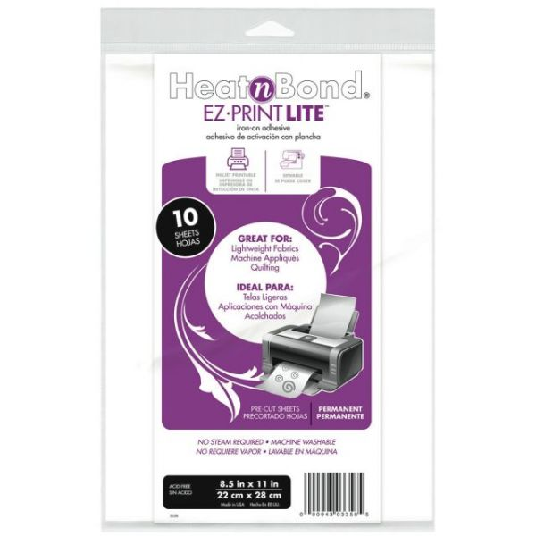 Heat'n Bond EZ-Print Lite Iron-On Adhesive