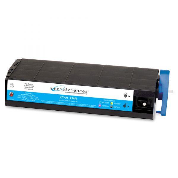 Media Sciences Remanufactured Oki 41963003 Cyan Toner Cartridge