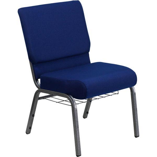 Flash Furniture Blue Fabric Big & Tall Church Chair